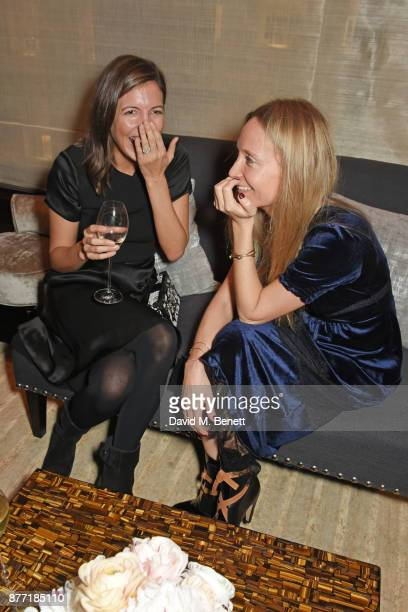Amanda Sheppard and Martha Ward attend Louis Vuittons Celebration of GingerNutz in Vogue's December Issue on November 21 2017 in London England