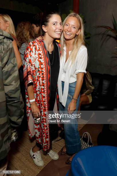Amanda Sheppard and Martha Ward attend 'Shadowman' Richard Hambleton Private View and After Party on September 12 2018 in London England
