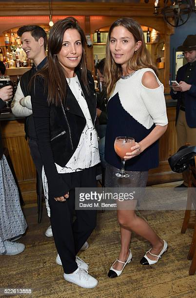 Amanda Sheppard and Quentin Jones attend the Zoe Jordan KNITLAXY Quiz Night at The Larrik Pub on April 20 2016 in London England