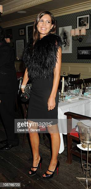 Amanda Sheppard attends Bryan Ferry's album launch for 'Olympia' at the Dean Street Townhouse on October 19 2010 in London England