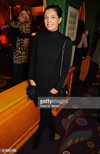 Amanda Sheppard attends Mark Ronson's performance at Annabel's on March 2 2016 in London England