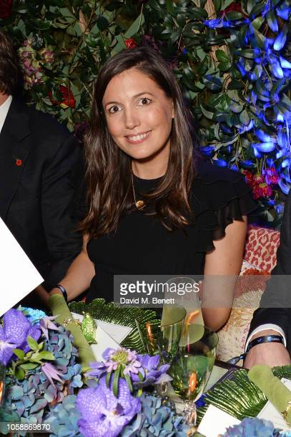 Amanda Sheppard attends the Annabel's Art Auction fundraiser in aid of Teenage Cancer Trust Teen Cancer America at Annabel's on November 7 2018 in...