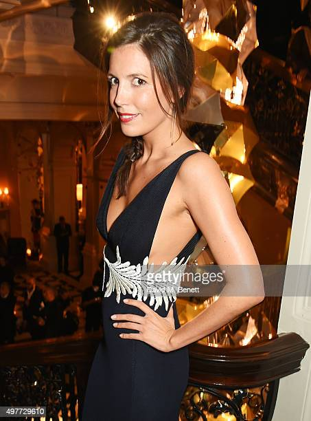Amanda Sheppard attends the Claridge's Christmas Tree Party 2015 designed by Christopher Bailey for Burberry at Claridge's Hotel on November 18 2015...