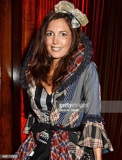 Amanda Sheppard attends the Unicef UK Halloween Ball raising vital funds to help protect Syria's children from danger at One Mayfair on October 30...