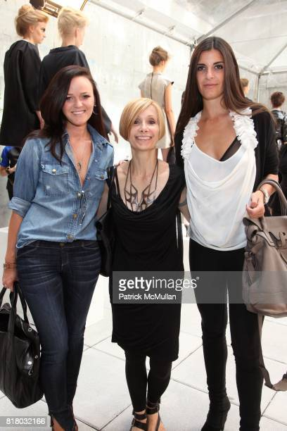 Amanda Sheppard Candace Mohr and Lucia Tait attend KAROLINA ZMARLAK Spring 2011 Presentation at Cassa Hotel on September 13 2010 in New York City