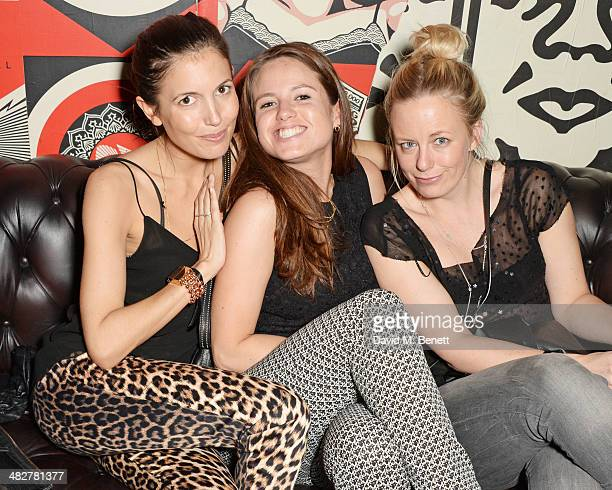 Amanda Sheppard Kate Windsor and Astrid Harbord attend the launch of MODE in Notting Hill on April 4 2014 in London England