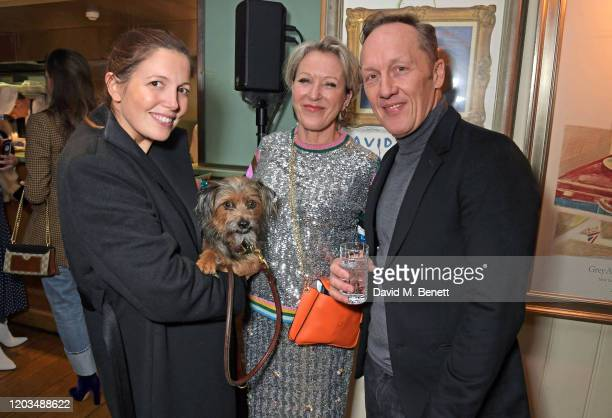 Amanda Sheppard Nikki Tibbles and Lee Dixon attend the launch of the George Charitable Dogs Committee at George Club on February 26 2020 in London...