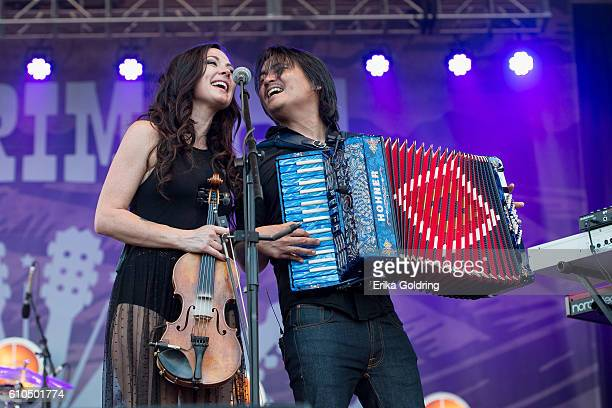 Amanda Shires and Derry deBorja perform on September 25 2016 in Franklin Tennessee