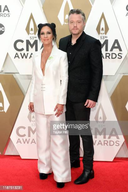 Amanda Shires and Jason Isbell attend the 53nd annual CMA Awards at Bridgestone Arena on November 13 2019 in Nashville Tennessee