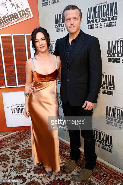 Amanda Shires and Jason Isbell attend the Americana Honors Awards 2016 at Ryman Auditorium on September 21 2016 in Nashville Tennessee