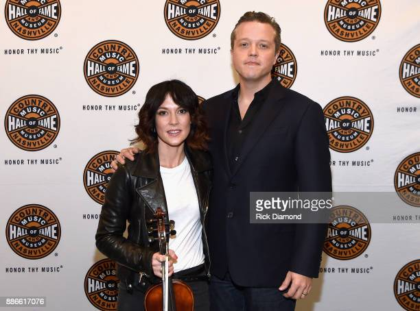 Amanda Shires and Jason Isbell attend the kick off of Jason Isbell's sold out residency at the Country Music Hall of Fame and Museum with Wife Amanda...