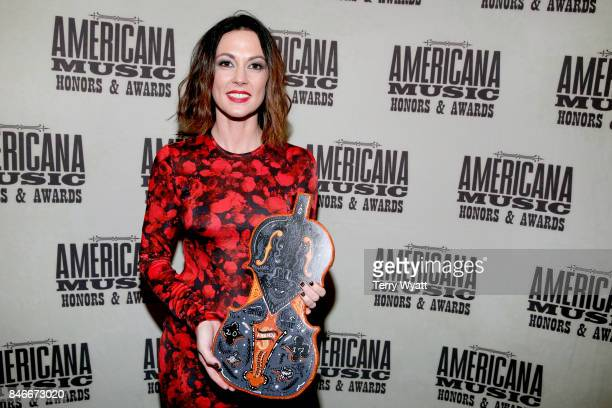 Amanda Shires attends the 2017 Americana Music Association Honors Awards on September 13 2017 in Nashville Tennessee