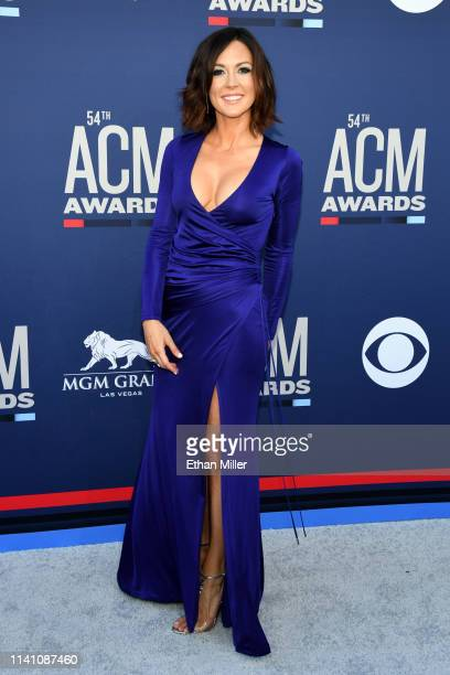 Amanda Shires attends the 54th Academy Of Country Music Awards at MGM Grand Hotel Casino on April 07 2019 in Las Vegas Nevada