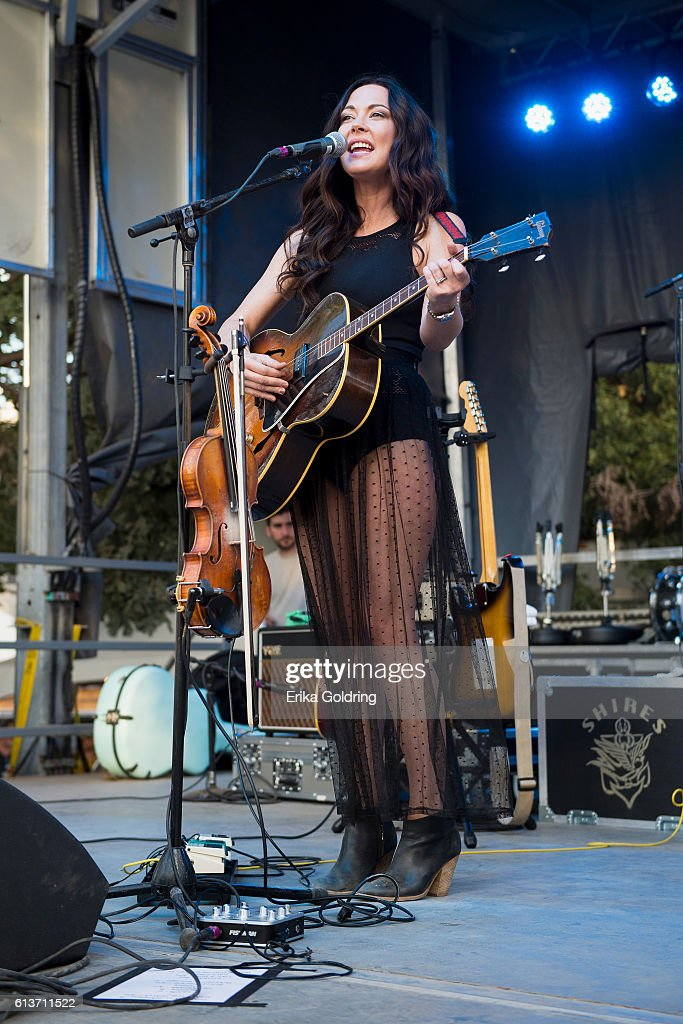 Amanda Shires performs during the Austin City Limits Music Festival 2016 at Zilker Park on October 9, 2016 in Austin, Texas.