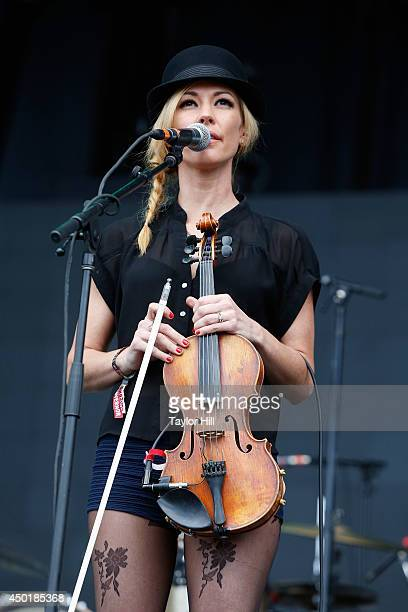 Amanda Shires performs on day 1 of the 2014 Governors Ball Music Festival at Randall's Island on June 6 2014 in New York City