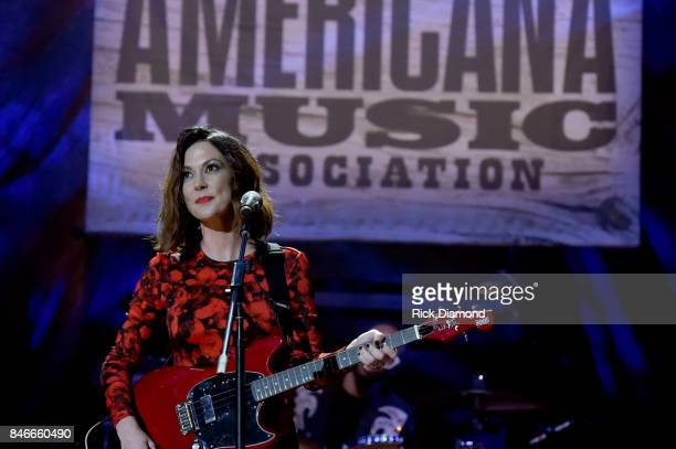 Amanda Shires performs onstage during the 2017 Americana Music Association Honors Awards on September 13 2017 in Nashville Tennessee