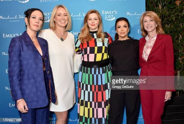 Amanda Shires, Stephanie Schriock, Amber Tamblyn, Eva Longoria, and Wendy Davis attend EMILY's List 3rd Annual Pre-Oscars Event at Four Seasons Hotel...