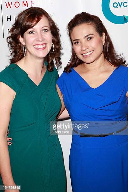 Amanda Sinele and HIlda Somarriba pose at the National Women's History Museum Hosts Exclusive Cocktail Reception Honoring Jennifer Siebel Newson and...