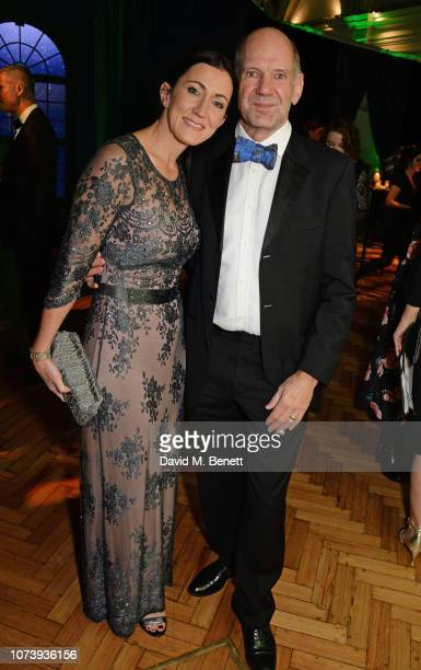 Amanda Smerczak and Adrian Newey attend the 12th annual Emeralds Ivy Ball in aid of Cancer Research UK and The Marie Keating Foundation at The Royal...