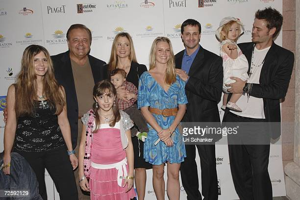 Amanda Sorvino Paul Sorvino Claudia Sorvino Mira Sorvino holding son Johnny Michael Sorvino and his girlfriend Jennifer Merrill and Mira's husband...