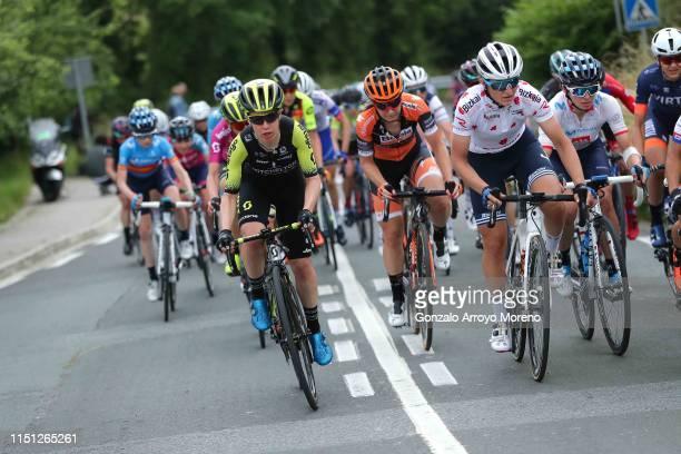 Amanda Spratt of Australia and Team Mitchelton Scott / Amy Pieters of The Netherlands and Boels Dolmans Cycling Team / Elisa Longo Borghini of Italy...