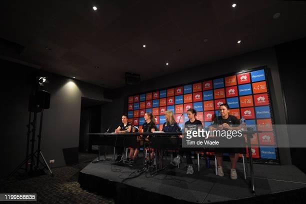 Amanda Spratt of Australia and Team MitcheltonScott / Leah Kirchmann of Canada and Team Sunweb / Kimberley Conte of Australia Santos Women's Tour...
