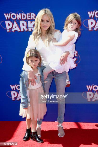 Amanda Stanton and daughters Charlie Buonfiglio and Kinsley Buonfiglio attend the premiere of Paramount Pictures' Wonder Park at Regency Bruin...