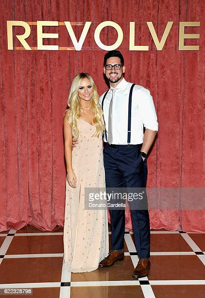 Amanda Stanton and Josh Murray attend REVOLVE Winter Formal 2016 on November 10 2016 in Los Angeles California