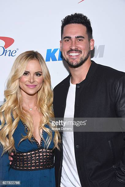 Amanda Stanton and Josh Murray attend the 1027 KIIS FM's Jingle Ball 2016 at Staples Center on December 2 2016 in Los Angeles California