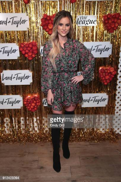 Amanda Stanton attends Lord Taylor and The League Valentine's Day Speed Dating with Dean Unglert Ashley Iaconetti and Eric Bigger at The Bar...