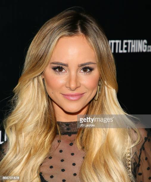 Amanda Stanton attends the PrettyLittleThing By Kourtney Kardashian Launch on October 25 2017 in Los Angeles California