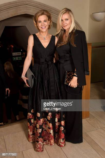 Amanda Staveley and Amanda Wakeley attend the BFI Luminous Fundraising Gala at The Guildhall on October 3 2017 in London England