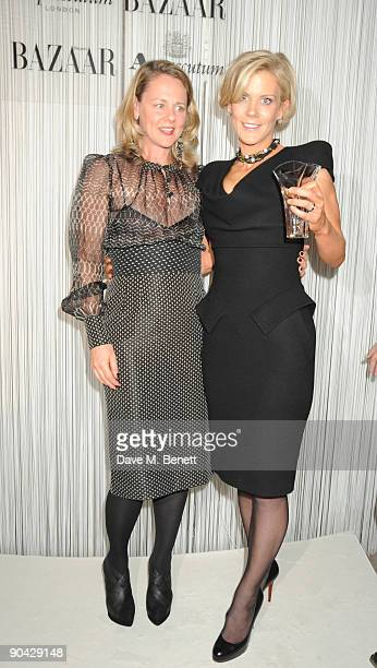 Amanda Staveley and guest attend the Harper's Bazaar Women Of The Year Awards at The Dorchester on September 7 2009 in London England