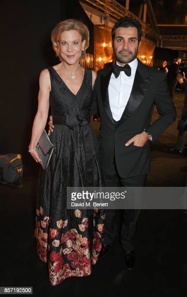 Amanda Staveley and Mehrdad Ghodoussi attend the BFI and IWC Luminous Gala at The Guildhall on October 3 2017 in London England