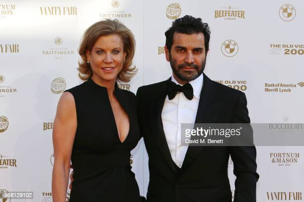 Amanda Staveley and Mehrdad Ghodoussi attend The Old Vic Bicentenary Ball to celebrate the theatre's 200th birthday at The Old Vic Theatre on May 13...