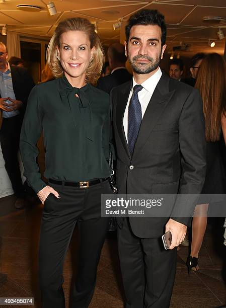Amanda Staveley and Mehrdad Ghodoussi attend the opening dinner for 12 Hay Hill hosted by 12 Hay Hill CEO Simon Robinson Heather Kerzner and Jeanette...
