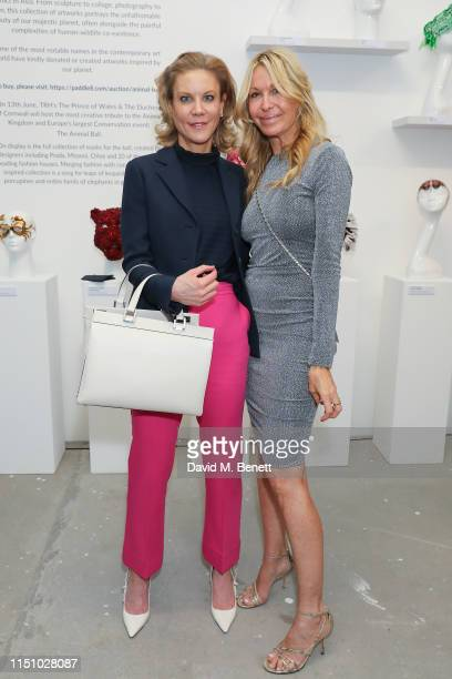 Amanda Staveley and Melissa Odabash at the Animal Ball Art Show Private Viewing presented by Elephant Family on May 22 2019 in London England
