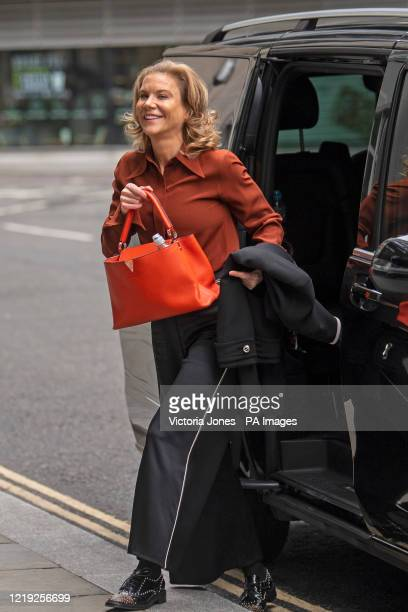 Amanda Staveley arrives at the Rolls Building in London to give evidence in her High Court battle with Barclays.