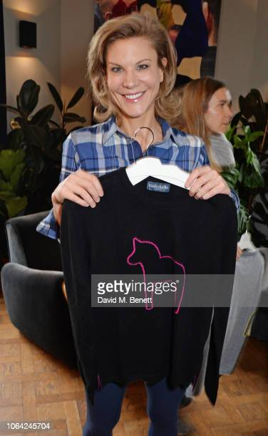 Amanda Staveley attends an exclusive breakfast hosted by Malin Jefferies to celebrate the launch of Malin Darlin at Laylow on November 22 2018 in...