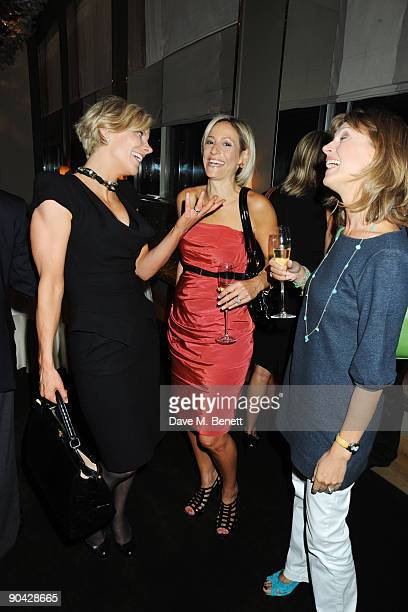 Amanda Staveley Emily Maitlis and guest attend the Harper's Bazaar Women Of The Year Awards at The Dorchester on September 7 2009 in London England