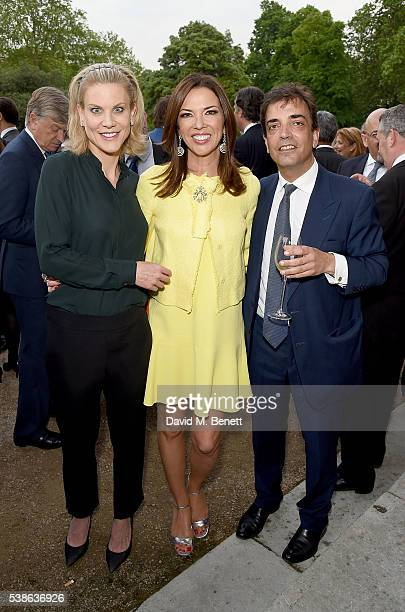 Amanda Staveley Heather Kerzner and James Henderson attend The Bell Pottinger Summer Party at Lancaster House on June 7 2016 in London England