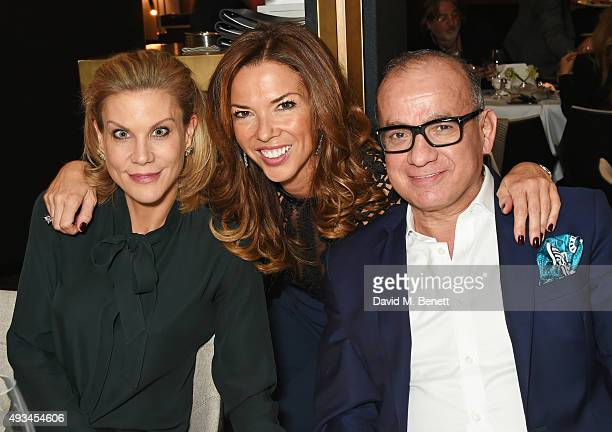 Amanda Staveley Heather Kerzner and Touker Suleyman attend the opening dinner for 12 Hay Hill hosted by 12 Hay Hill CEO Simon Robinson Heather...