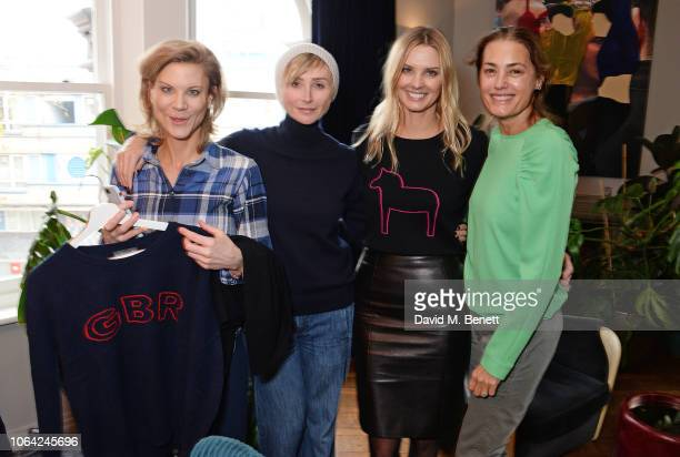 Amanda Staveley Jo Manoukian Malin Jefferies and Yasmin Le Bon attend an exclusive breakfast hosted by Malin Jefferies to celebrate the launch of...