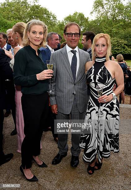 Amanda Staveley with Richard and Joy Desmond attending The Bell Pottinger Summer Party at Lancaster House on June 7 2016 in London England