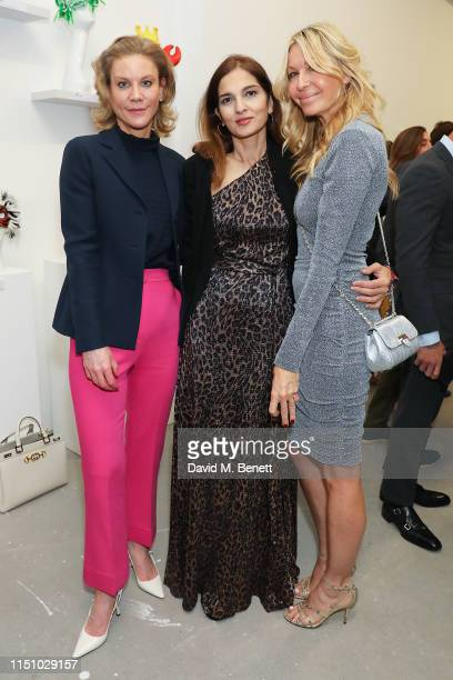 Amanda Staveley, Yasmine Mills and Melissa Odabash at the Animal Ball Art Show Private Viewing, presented by Elephant Family on May 22, 2019 in...