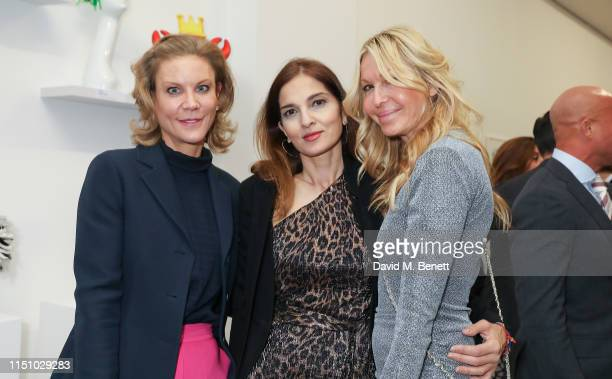 Amanda Staveley Yasmine Mills and Melissa Odabash at the Animal Ball Art Show Private Viewing presented by Elephant Family on May 22 2019 in London...