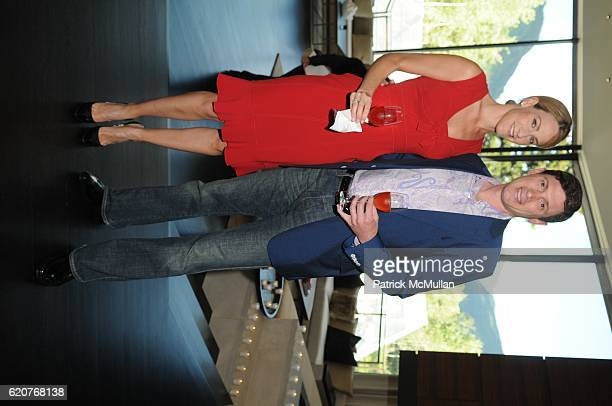 Amanda Steck and Glenn Fuhrman attend AMY JOHN PHELAN host wineCRUSH for the ASPEN ART MUSEUM at Phelan Residence on July 30 2008 in Aspen CO