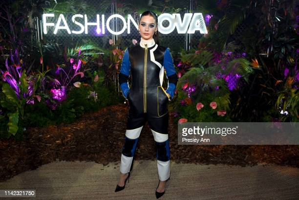 Amanda Steele arrives as Fashion Nova Presents Party With Cardi at Hollywood Palladium on May 8 2019 in Los Angeles California