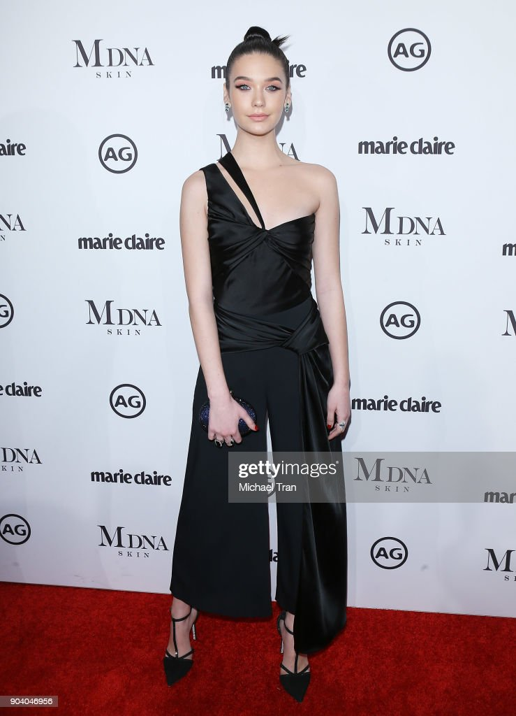 Amanda Steele arrives to the Marie Claire's Image Maker Awards 2018 held at Delilah on January 11, 2018 in West Hollywood, California.