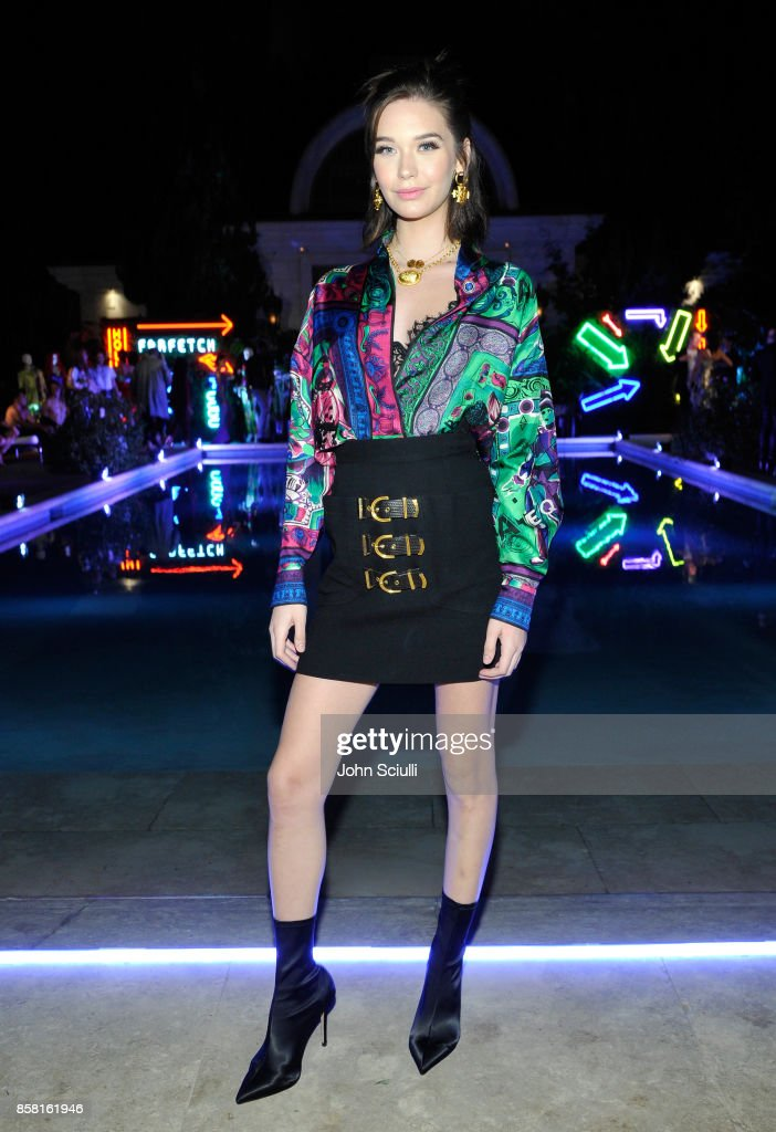 Amanda Steele at Farfetch and William Vintage Celebrate Gianni Versace Archive hosted by Elizabeth Stewart and William Banks-Blaney on October 5, 2017 in Los Angeles, California.